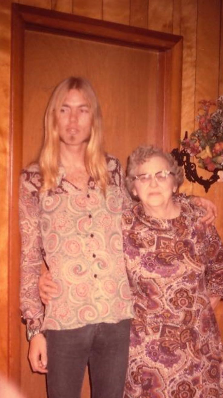 David Almannif the Altman Bros band with his grandmother He died 5-27-17