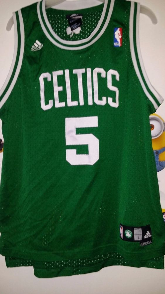bd0deda8f1c ... Basketball-NBA Adidas Boys L Green Kevin Garnett Boston Celtics 5 Jersey  ...
