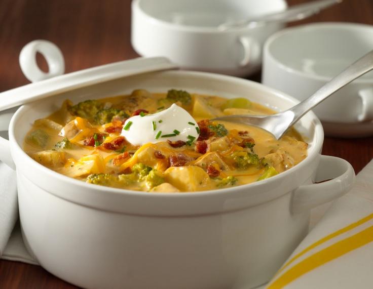 Loaded Roasted Potato Soup  #WeightWatchers #SmartOnes