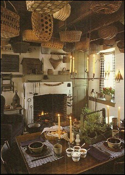 Maries Manor: primitive americana decorating style - folk art - heartland decor - Colonial & Country style decor...