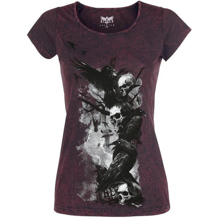 T-shirt from Black Premium by EMP:   - crew neck - front print - crinkle wash …