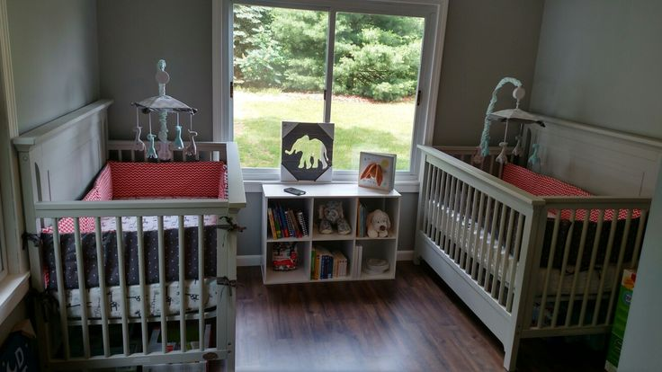 Small twin nursery, gender neutral