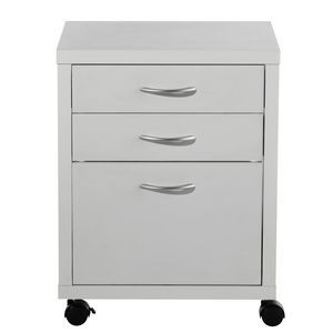 Cluedo 3 Drawer Pedestal White