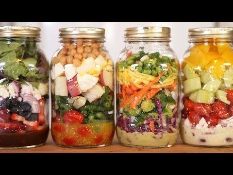 4 Salad-In-A-Jar Recipes - YouTube
