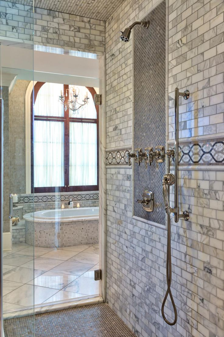 Incredible Tile Work Elevates This Walk In Shower From