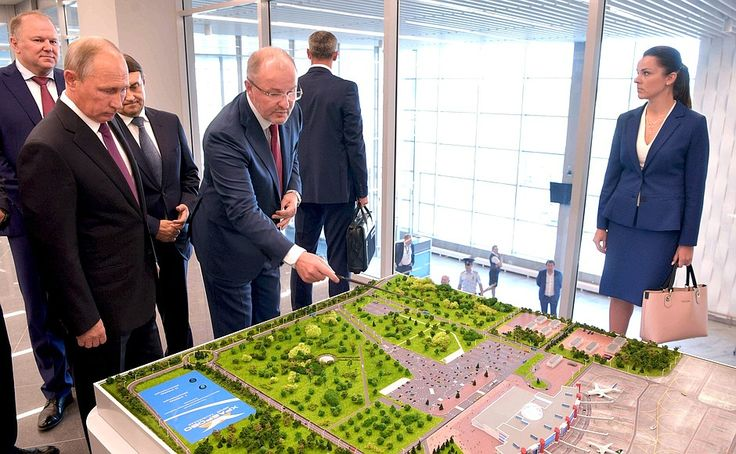 Russian President visited new Khrabrovo airport terminal.