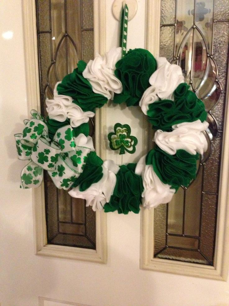 Easy St Pattys wreath!