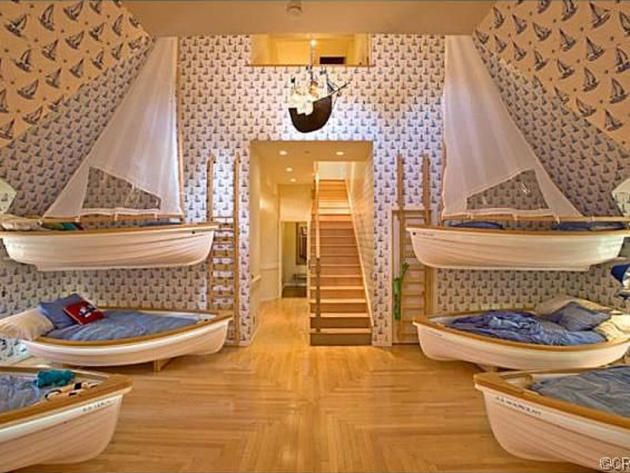 Instead of Bunk beds, Sailboat Beds! >> http://www.frontdoor.com/coolhouses/5-homes-with-whimsical-kids-rooms?soc=pinterest