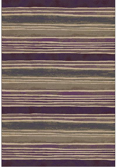 Rug with Aubergine and taupe stripes subtle and stylish, rugs.