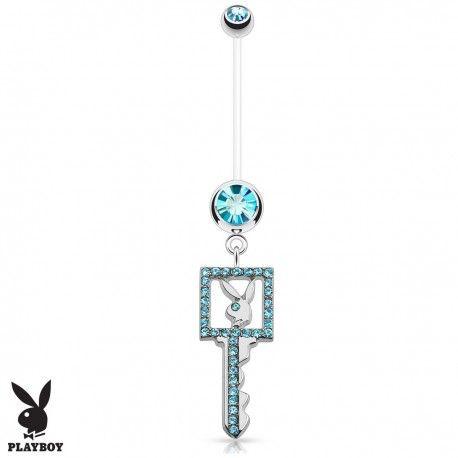 Piercing Nombril Grossesse Flexible Playboy® clé bleue https://piercing-pure.fr/p/635-piercing-nombril-grossesse-flexible-playboy-cle-bleue.html #piercing #piercingnombril #clé #key #playboy