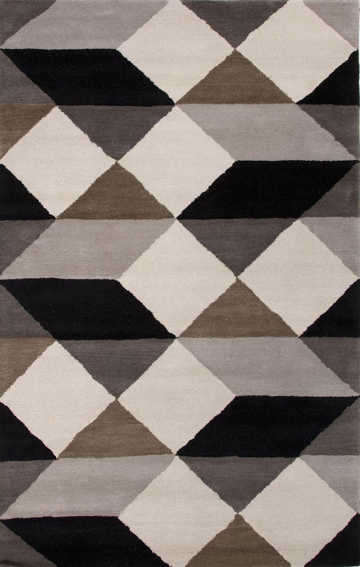 En Casa by Luli Sanchez Tufted LST20 Ojo Ebony / White Rug