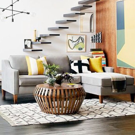 Paidge sofa & bentwood coffee table from west elm