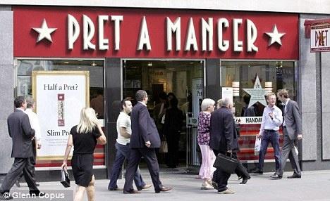 A favorite sandwich chain in London.