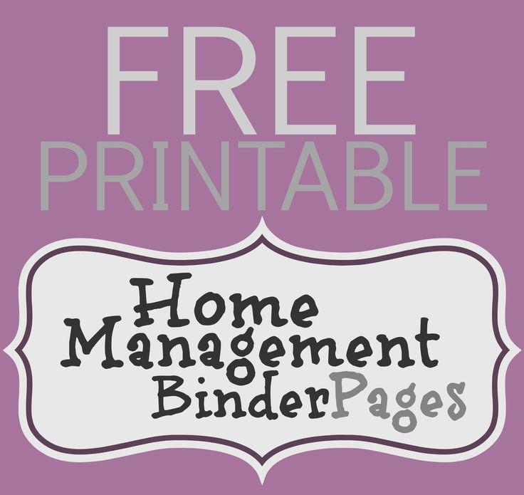 Home Management Binder Pages