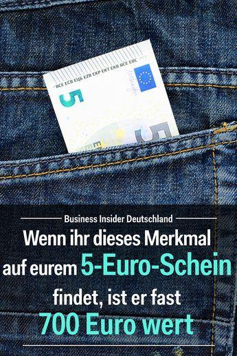 Wenn ihr dieses Merkmal auf eurem 5-Euro-Schein findet, ist er fast 700 Euro wert