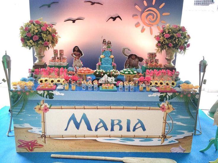 Festa Moana por @giftdecor.ar com peças @lok.festas e @festanca #festamoana #festamenina #festalinda ...