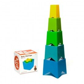 Kid O Stack & Nest Cups Cool Colours