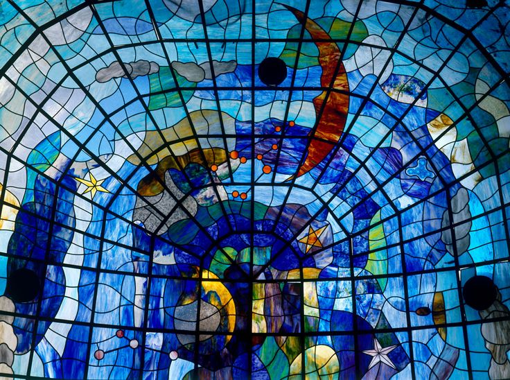 Vidrieras del Museo Art Nouveau y Art Déco Casa Lis. Fotografía: Imagen M.A.S.