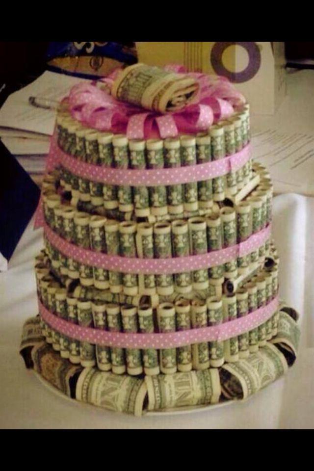 Money cake money gift ideas pinterest
