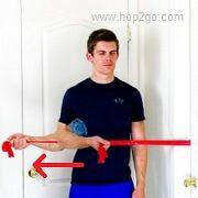 Shoulder External Rotation:Theraband shoulder rehab exercises.