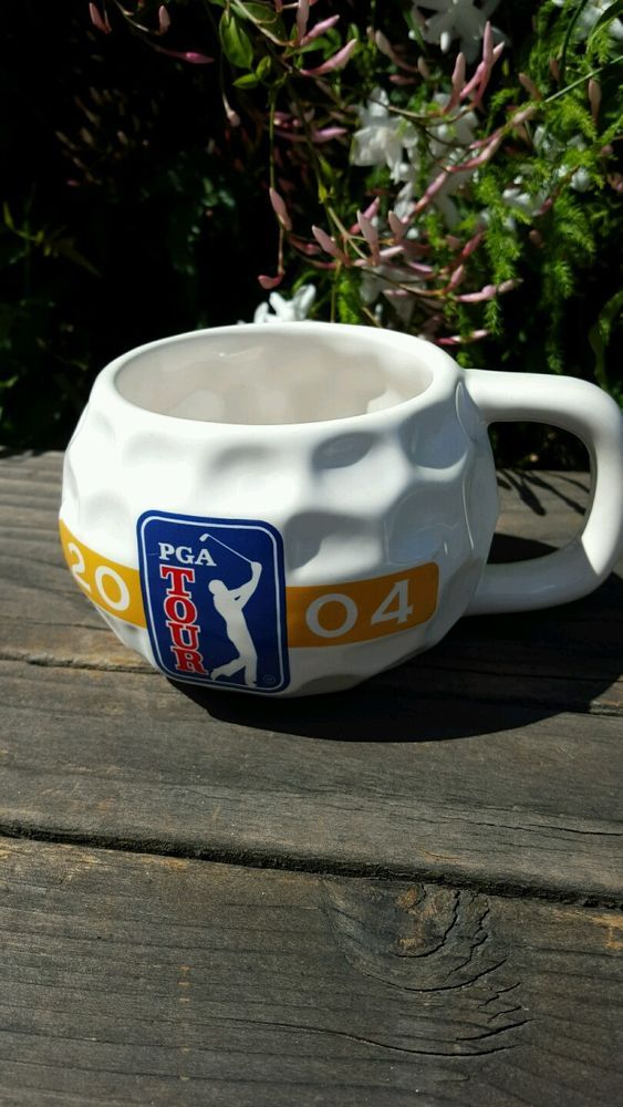 GOLF SENIOR PGA TOUR COFFEE MUG COLLECTIBLE GOLF BALL CUP 2004 #VANTAGE