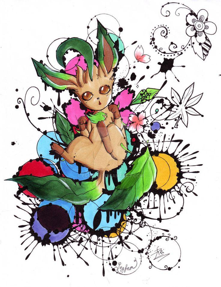 Leafeon - Espeon evolution - Pokemon by eREIina.deviantart.com on @DeviantArt