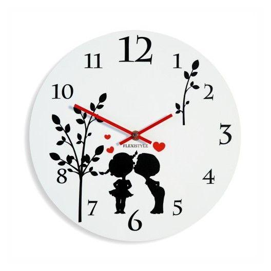 Detske nastenne hodiny bielej farby