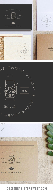 Wedding photography branding. Photographer logo templates. Marketing design.