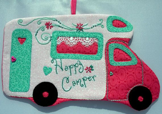 Happy Camper 52 Mug Rug