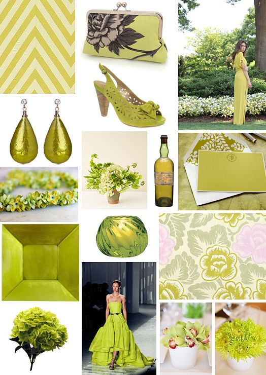 Chartreuse Wedding Color Inspiration on COUTUREcolorado WEDDING