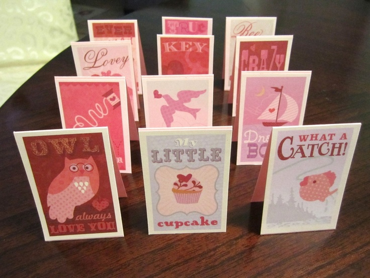 Paper Goods - Valentine's Day - Vintage Valentines - Set of 24 Mini Cards. $15.00, via Etsy.