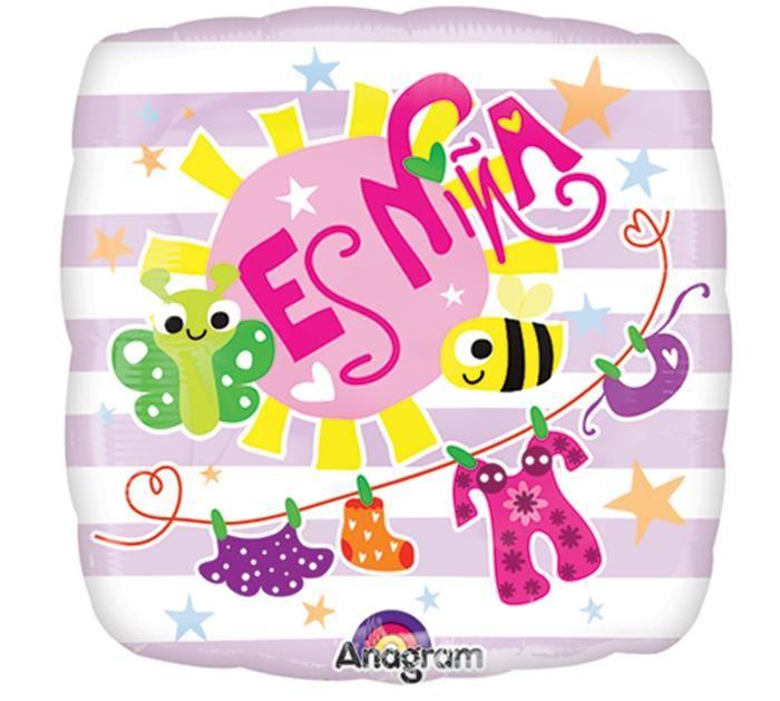 "9"" Spanish Es Nina Foil Balloon"