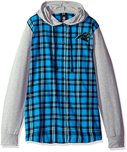 NFL Carolina Panthers Womens NFL Women's Lightweight Flannel Hooded Jacket, Large  http://allstarsportsfan.com/product/nfl-carolina-panthers-womens-nfl-womens-lightweight-flannel-hooded-jacket-large/  100% cotton flannel 100% officially licensed Apparel Made of 100% cotton flannel material