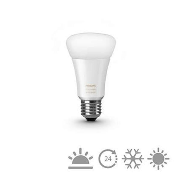 Bec LED Philips Hue white ambiance, 9.5W, A60, E27 http://www.etbm.ro/philips-hue---connected-lighting