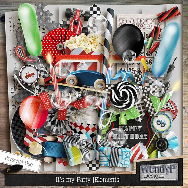 Oh boy... It's my party! - Elements :: Full & Mini Kits :: Memory Scraps