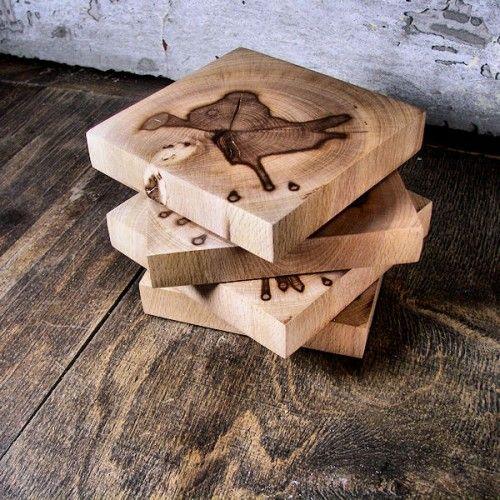 Podkładki pod kubki z drewna - Podkładki - Dekoracje wnętrz