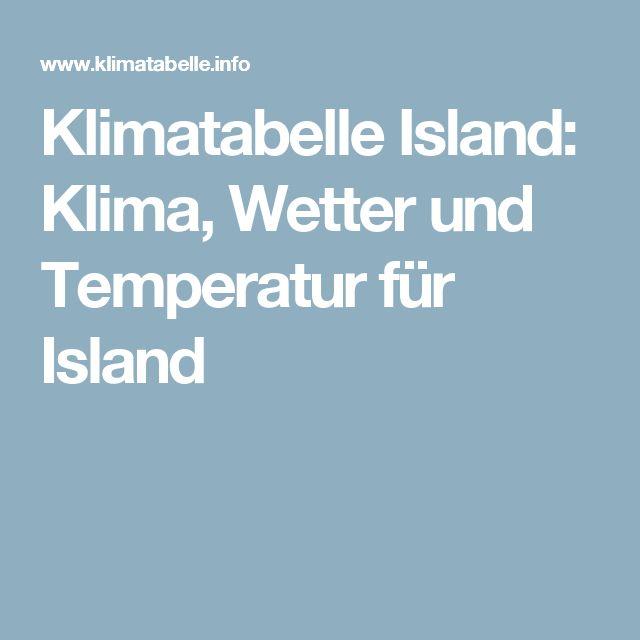 Klimatabelle Island: Klima, Wetter und Temperatur für Island