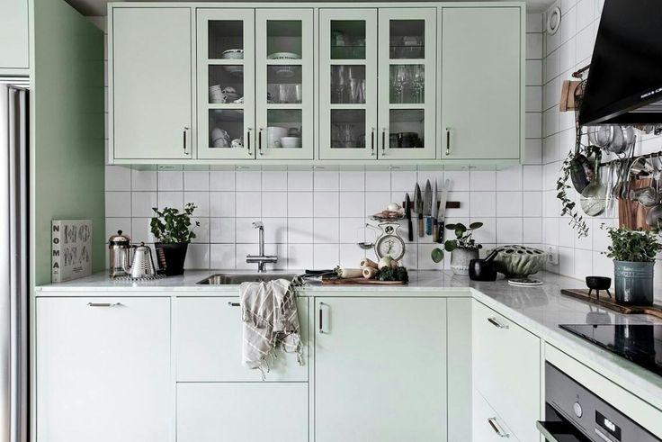 Нежная мятная кухня