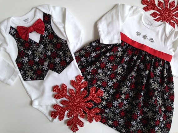 Christmas Twins Onesie, Sibling Christmas Outfits, Matching Sibling ...