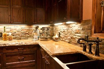 Copper Farm Sink Back Splash Darker Cabinets With