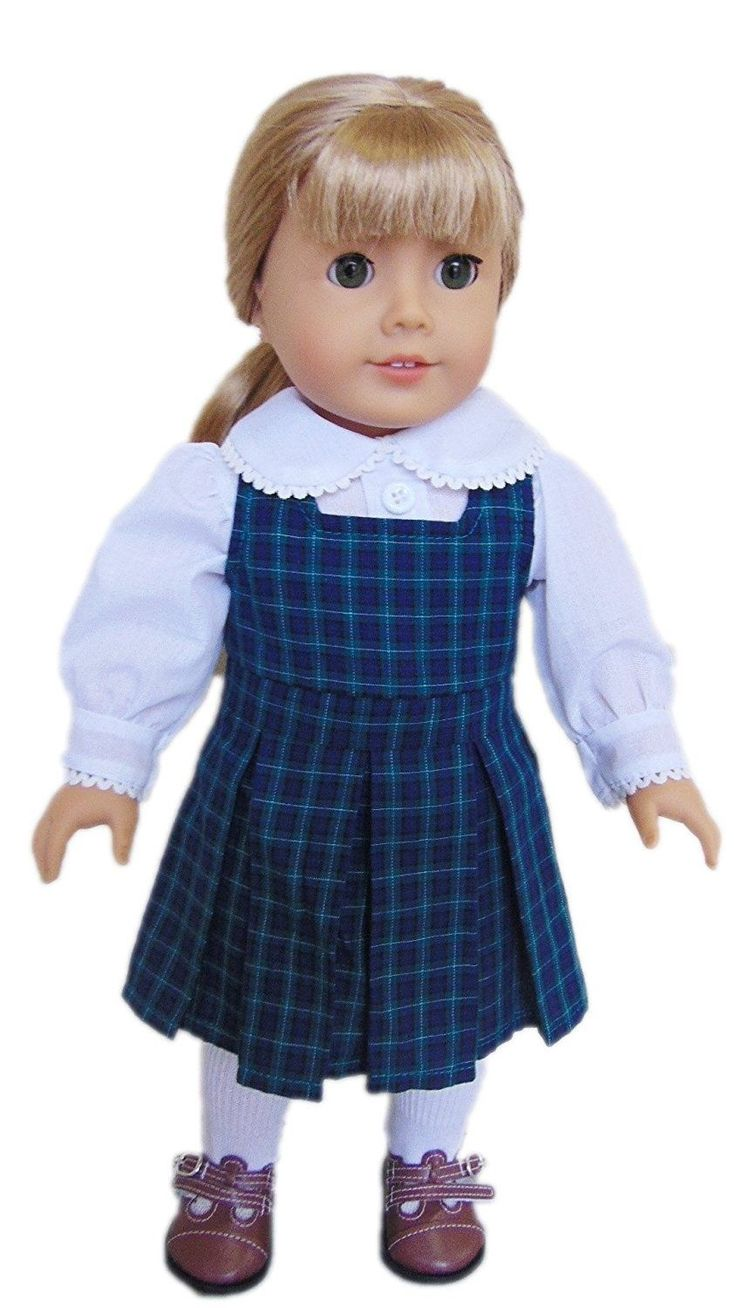 My Brittany's Blair Plaid Catholic School Jumper for American Girl Dolls. Shippi
