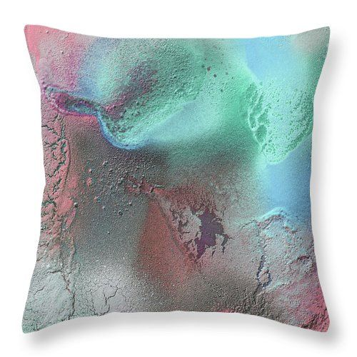 """#Coral, #Turquoise, #Teal #ThrowPillow (18"""" x 18"""") by #JuliaFineArt.  Our #throwpillows are made from 100% spun #polyester #poplin #fabric and add a stylish statement to any #room.  #Pillows are available in sizes from 14"""" x 14"""" up to 26"""" x 26"""".  Each pillow is printed on both sides (same image) and includes a concealed zipper and removable insert (if selected) for easy cleaning. #faa #pixels.com #fineartamerica"""