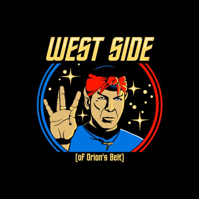 A mash-up play on where Vulcan's hail from and gang culture.  #startrek #funny #shirt #design #art #humor #spock #vulcan