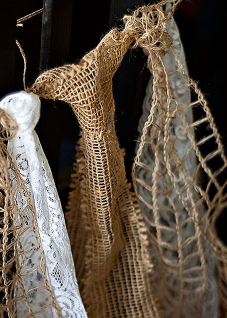 burlap lace | lace and burlap ties in whichever order you like.