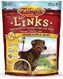 Zuke's Lil' Links Dog Treats, Chicken & Apple Recipe, 6-Ounces