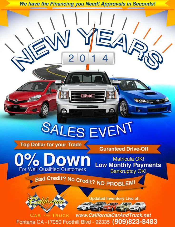 California Car and Truck New Years 2014 Flyer. New