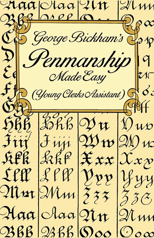 Penmanship Made Easy Young Clerks Assistant Lettering, Calligraphy ...