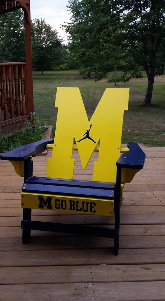 University Of Michigan Adirondack Chair   For by MinneyWoodworking