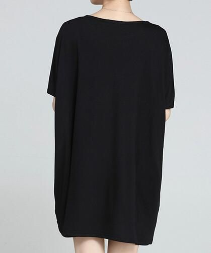 Polka Dot t shirt dress for women batwing sleeve tops