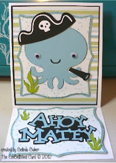 Cricut Boy Card. Create a Critter and Elegant Edges Cartridges.  *